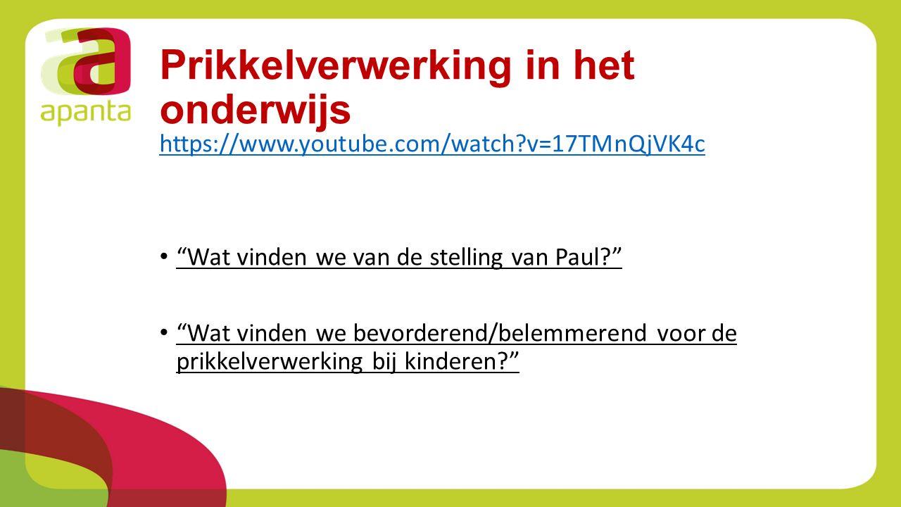 """Prikkelverwerking in het onderwijs https://www.youtube.com/watch?v=17TMnQjVK4c """"Wat vinden we van de stelling van Paul?"""" """"Wat vinden we bevorderend/be"""