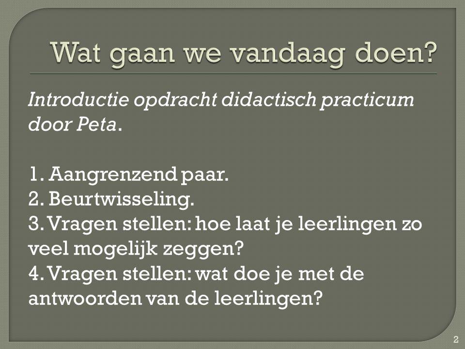 Introductie opdracht didactisch practicum door Peta.