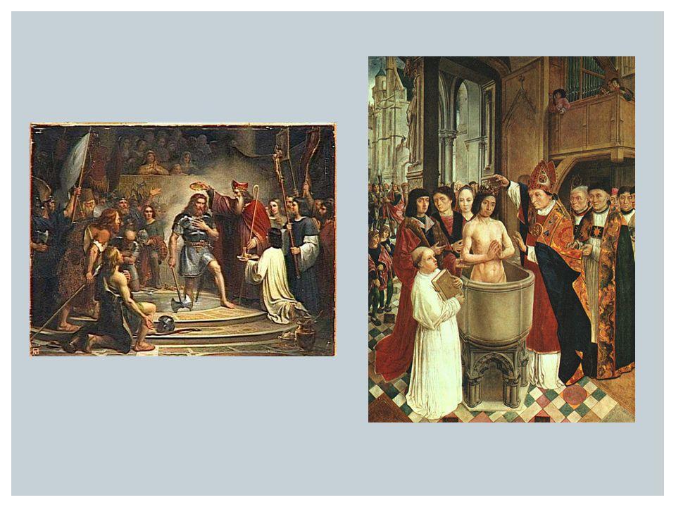 DE KERSTENING VAN NEDERLAND  7 e eeuw Willibrord (uit Engeland)  Maakt Utrecht tot centrum van de kerstening  Bonifatius zet werk van Willibrord voort: in 754 vermoord door Friezen bij Dokkum