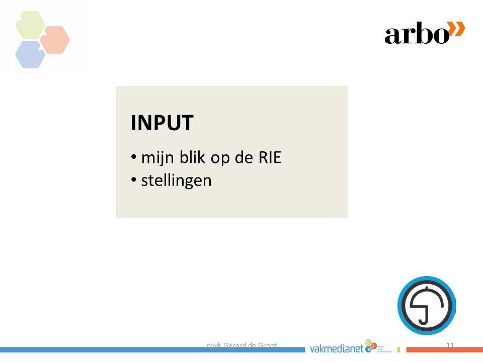 nvvk Gerard de Groot11 INPUT mijn blik op de RIE stellingen