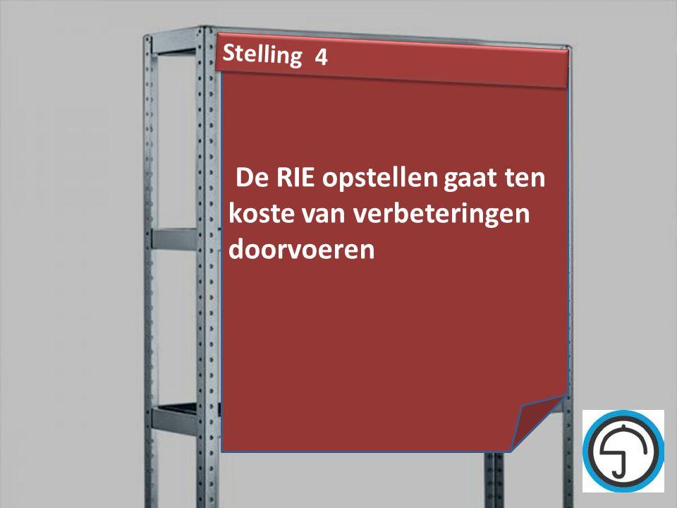 nvvk Gerard de Groot33 De RIE opstellen gaat ten koste van verbeteringen doorvoeren Stelling 4