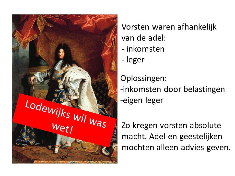 Frankrijk- Lodewijk XIVde 'de zonnekoning' in Versailles Lodewijk de XIVde vond dat hij zijn macht van God gekregen had.