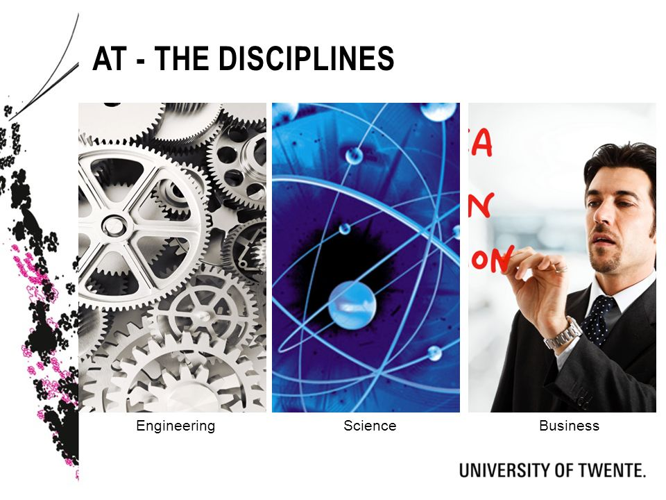 AT - THE DISCIPLINES EngineeringScienceBusiness