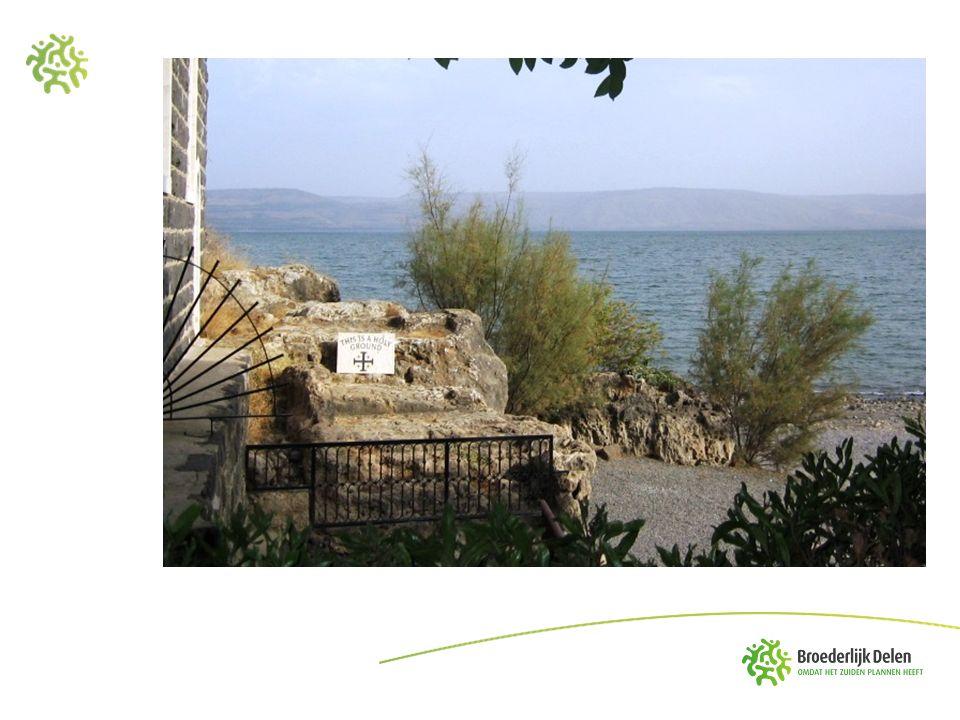 Joh.21, 1-14 Bij het meer van Tiberias Ik ga vissen Werp je netten uit rechts van de boot.