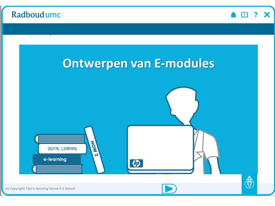 Ontwerpen van een e-learningmodule Aan de slag!