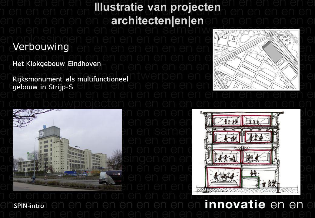 SPIN-intro Verbouwing Het Klokgebouw Eindhoven Rijksmonument als multifunctioneel gebouw in Strijp-S Illustratie van projecten architecten|en|en
