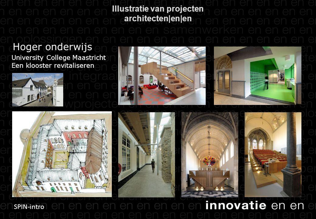 SPIN-intro Illustratie van projecten architecten|en|en Hoger onderwijs University College Maastricht Een klooster revitaliseren