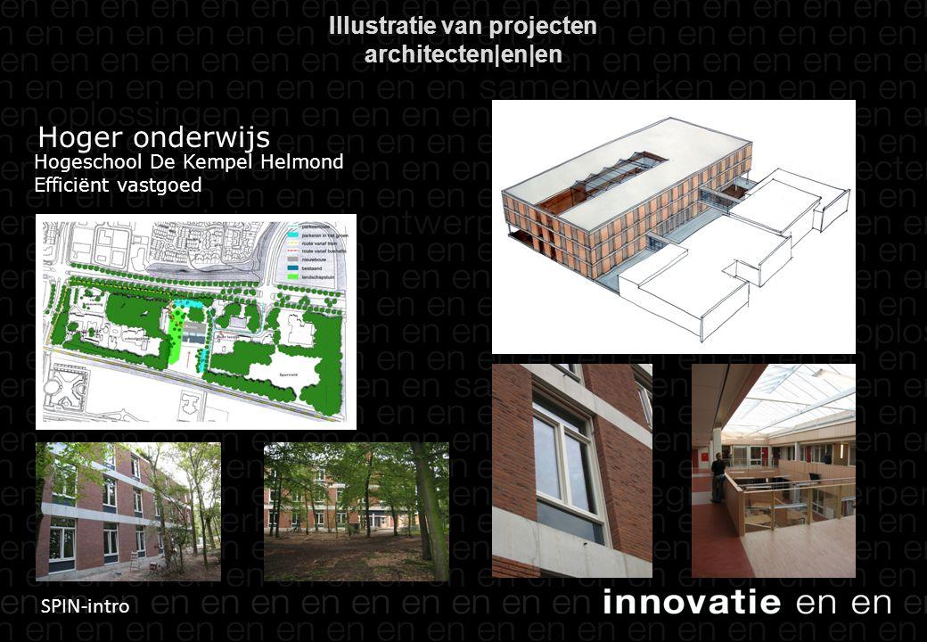 SPIN-intro Illustratie van projecten architecten|en|en Hoger onderwijs Hogeschool De Kempel Helmond Efficiënt vastgoed