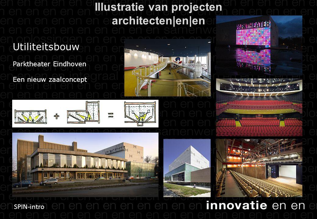 SPIN-intro Utiliteitsbouw Parktheater Eindhoven Een nieuw zaalconcept Illustratie van projecten architecten|en|en