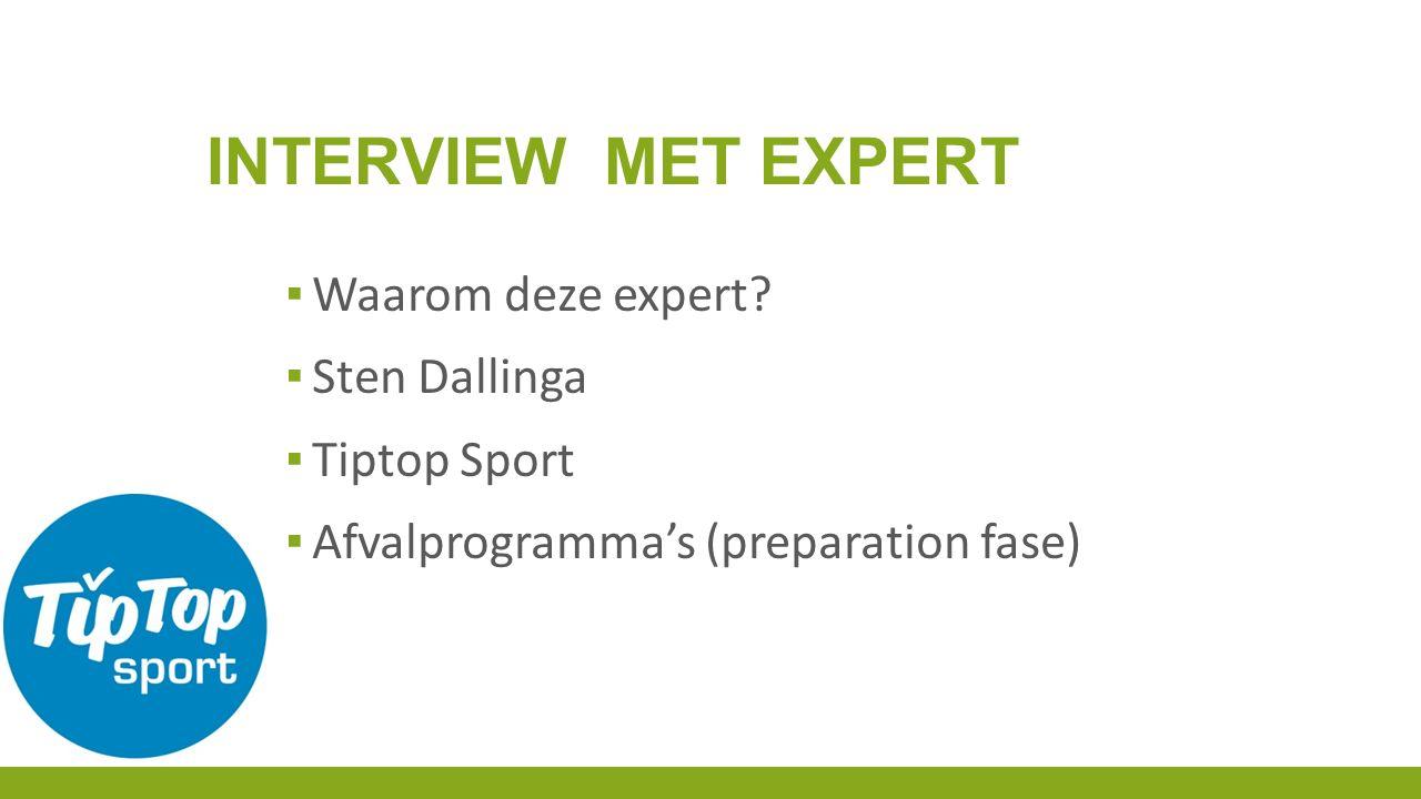 ▪ Waarom deze expert.