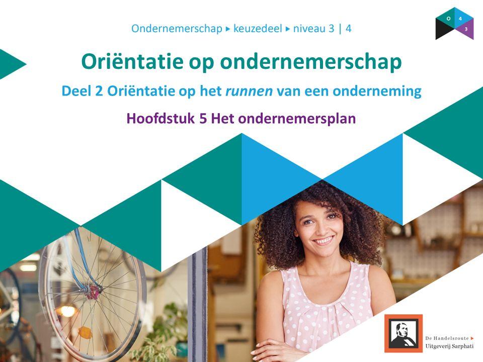 Deel 2 Oriëntatie op het runnen van een onderneming Oriëntatie op ondernemerschap Hoofdstuk 5 Het ondernemersplan