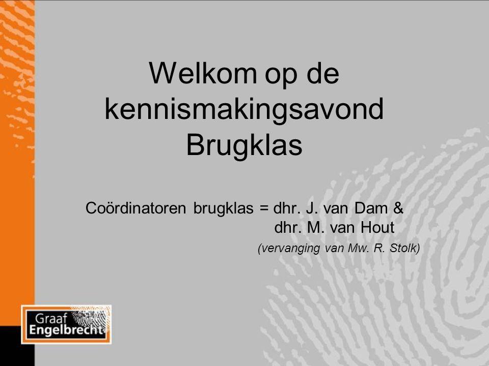 Welkom op de kennismakingsavond Brugklas Coördinatoren brugklas = dhr.