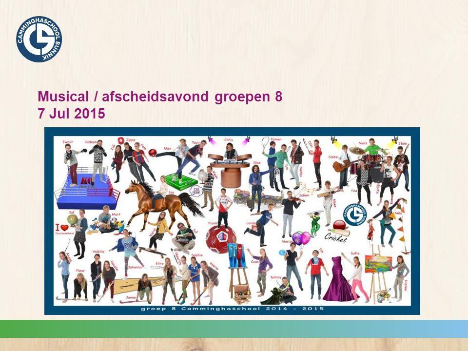 Musical / afscheidsavond groepen 8 7 Jul 2015