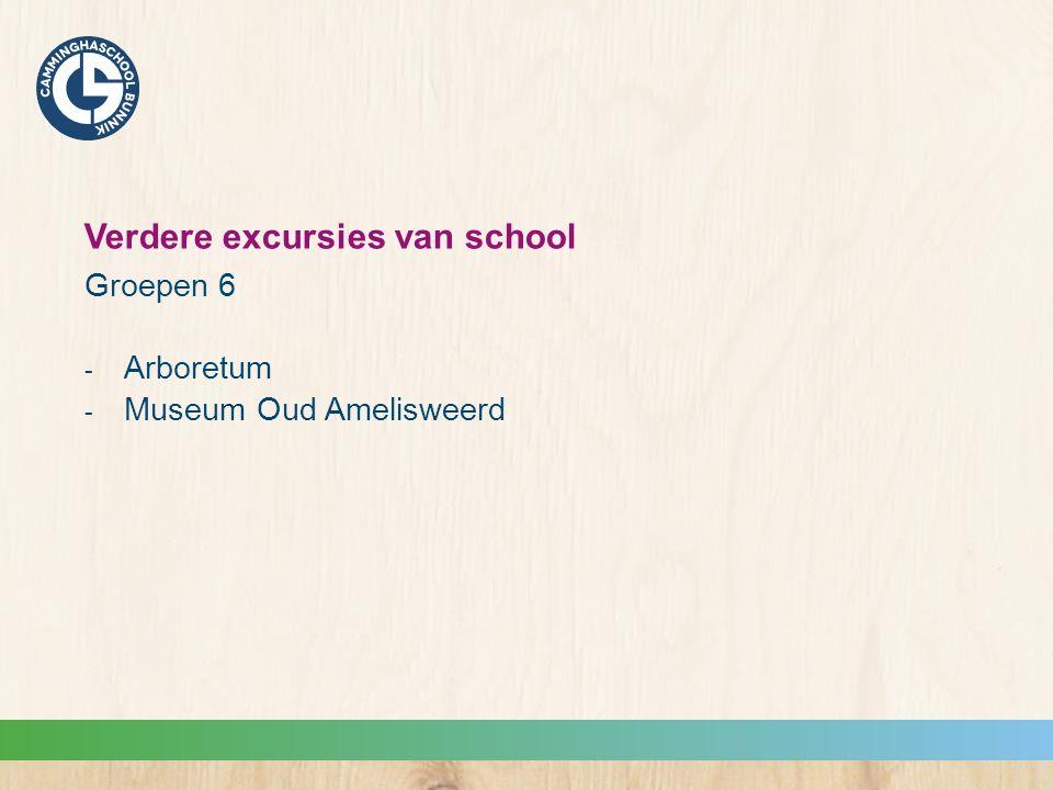 Verdere excursies van school Groepen 6  Arboretum  Museum Oud Amelisweerd