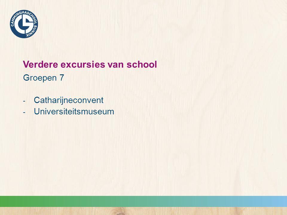 Verdere excursies van school Groepen 7  Catharijneconvent  Universiteitsmuseum