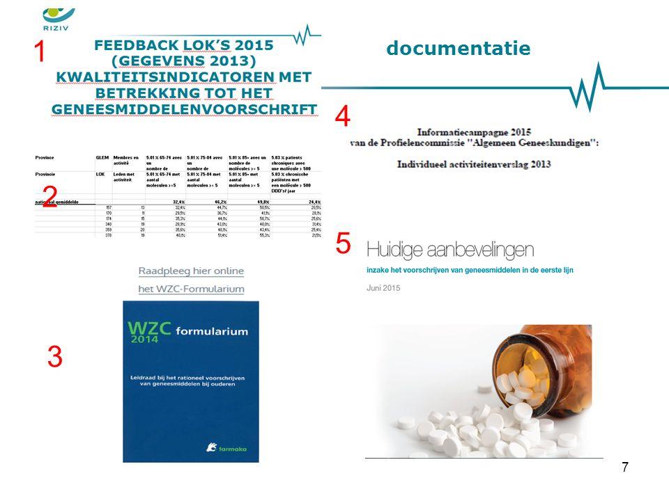 De kwaliteitsindicatoren betreffende het geneesmiddelenvoorschrift Deel 1: inleiding, Doelstellingen en methodologie Deel 2: voorstelling van de resultaten van de LOK's 18