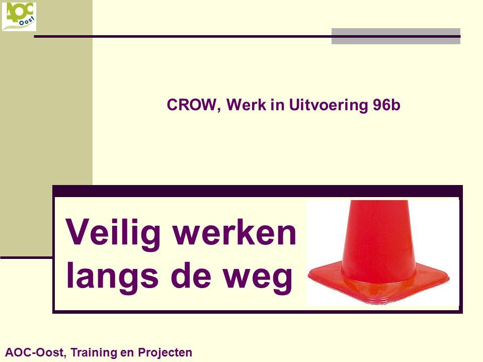 CROW, Werk in Uitvoering 96b Veilig werken langs de weg AOC-Oost, Training en Projecten