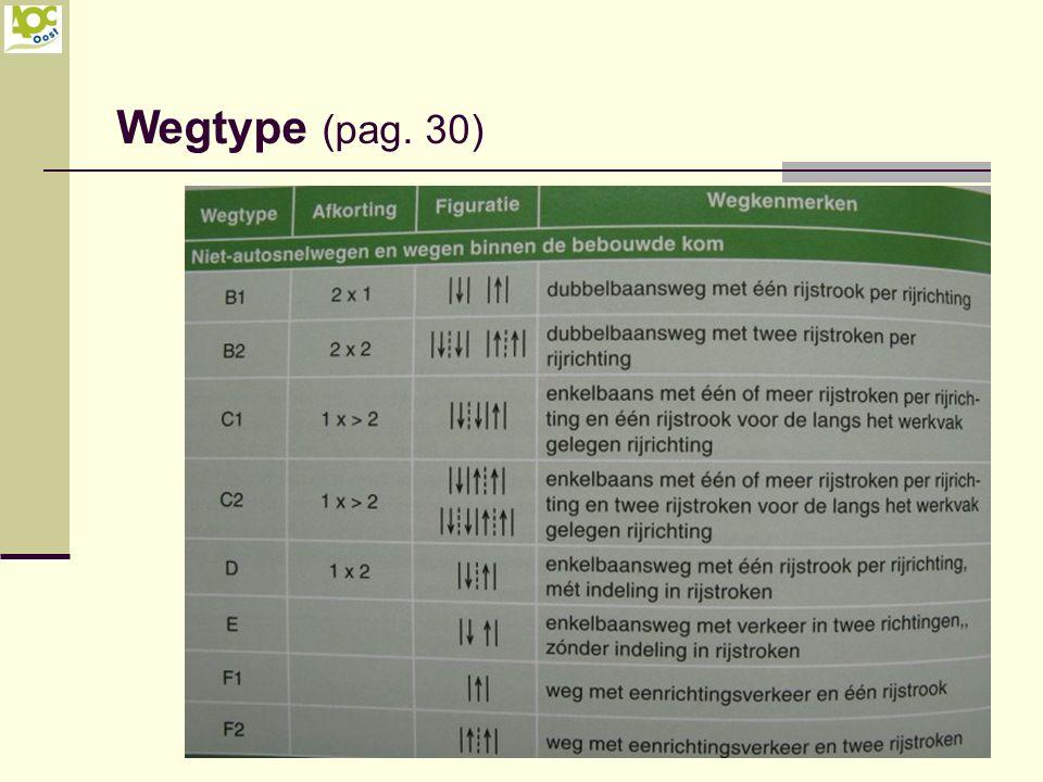 Wegtype (pag. 30)
