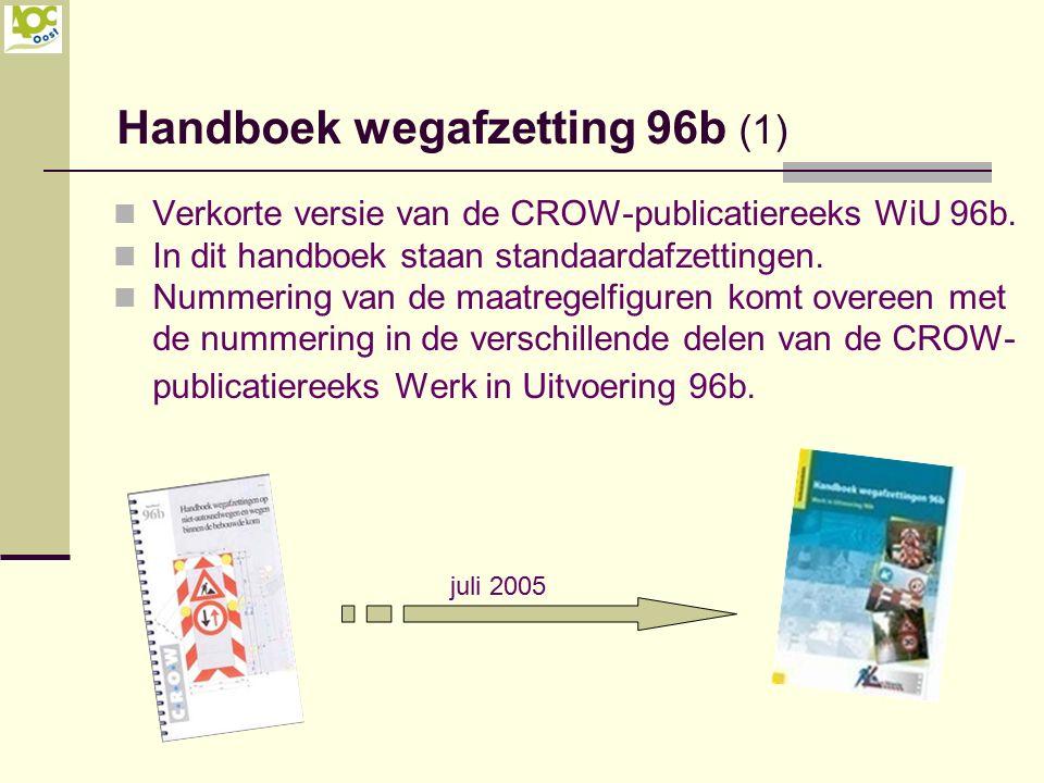 Verkorte versie van de CROW-publicatiereeks WiU 96b. In dit handboek staan standaardafzettingen. Nummering van de maatregelfiguren komt overeen met de