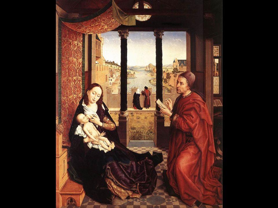 Triptiek van de Madonna met kind, de H. Michaël, en de H. Catherine 1437 [ Gemäldegalerie Alte Meister, Dresden ]