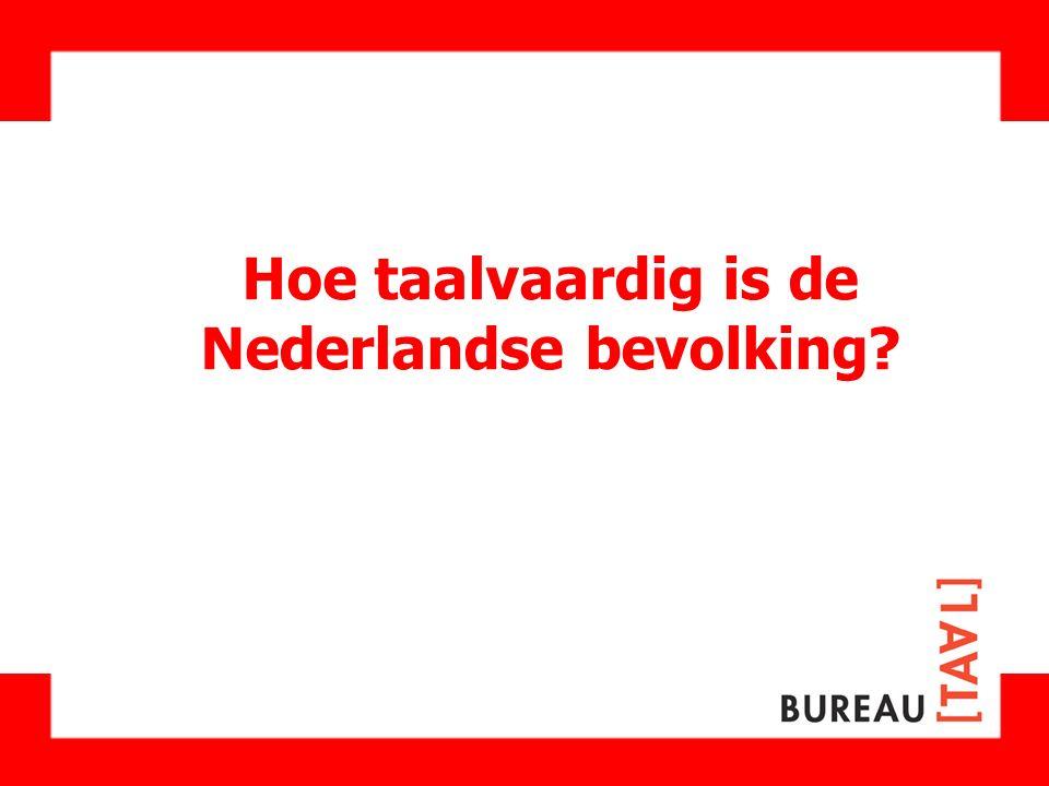 Hoe taalvaardig is de Nederlandse bevolking?