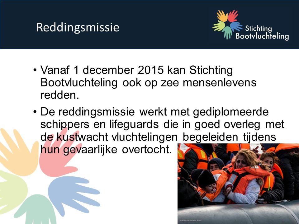 Vanaf 1 december 2015 kan Stichting Bootvluchteling ook op zee mensenlevens redden.