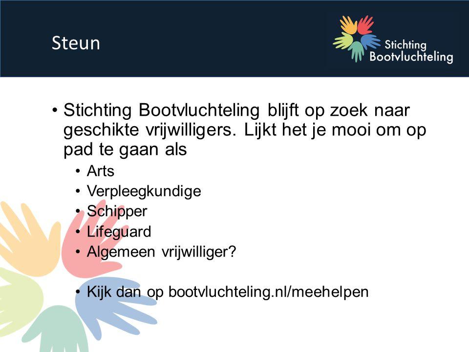 Stichting Bootvluchteling blijft op zoek naar geschikte vrijwilligers.