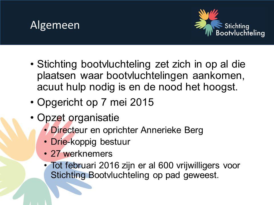 Stichting bootvluchteling zet zich in op al die plaatsen waar bootvluchtelingen aankomen, acuut hulp nodig is en de nood het hoogst.