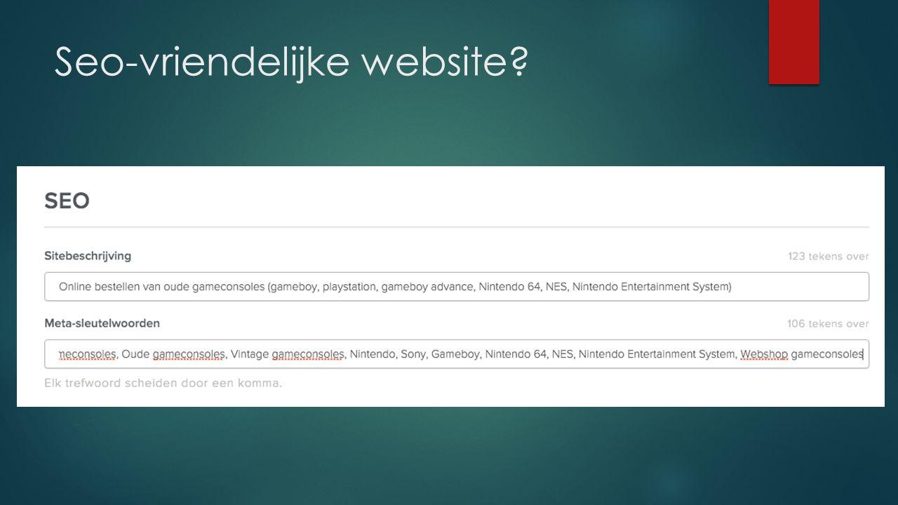 Seo-vriendelijke website