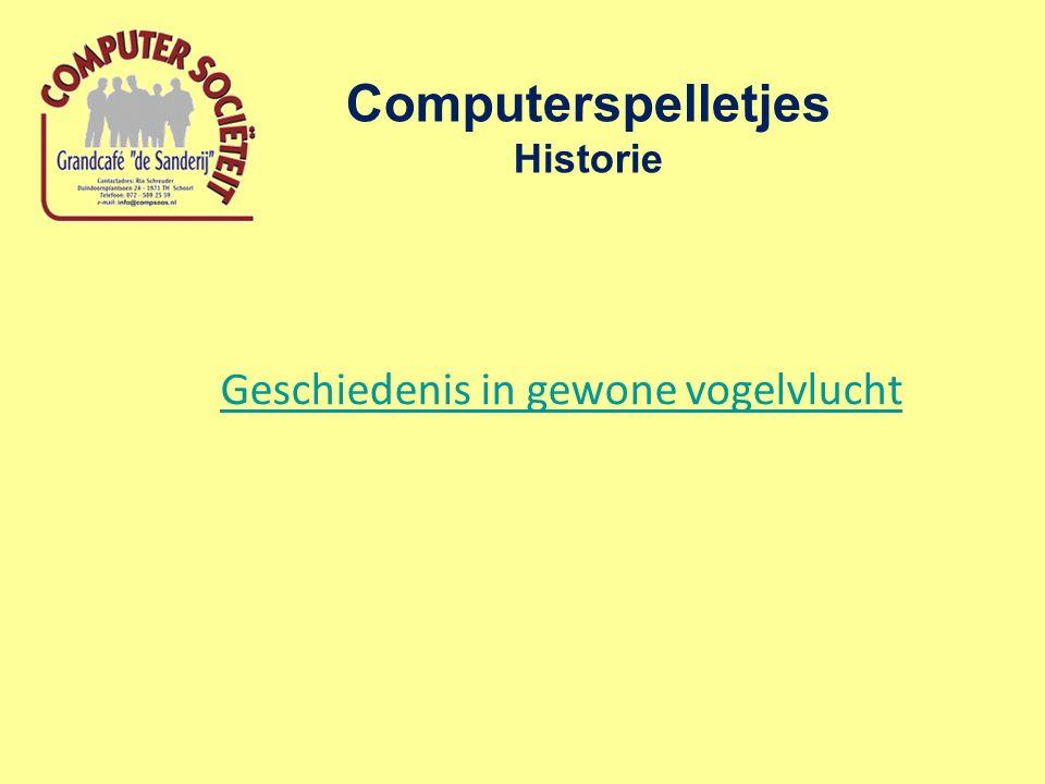 Computerspelletjes Historie Geschiedenis in gewone vogelvlucht