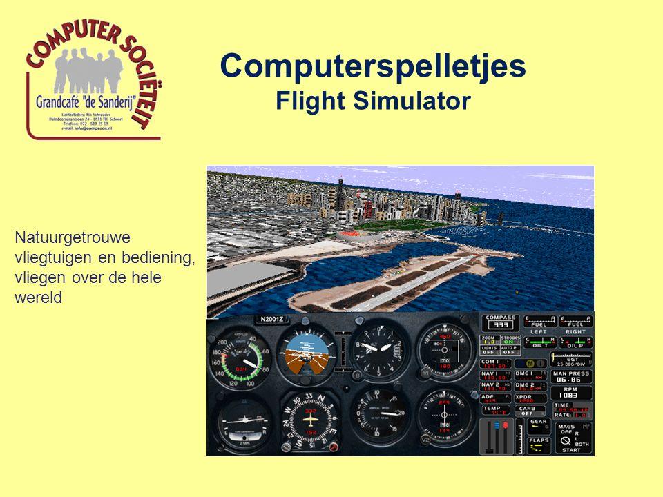 Computerspelletjes Flight Simulator Natuurgetrouwe vliegtuigen en bediening, vliegen over de hele wereld