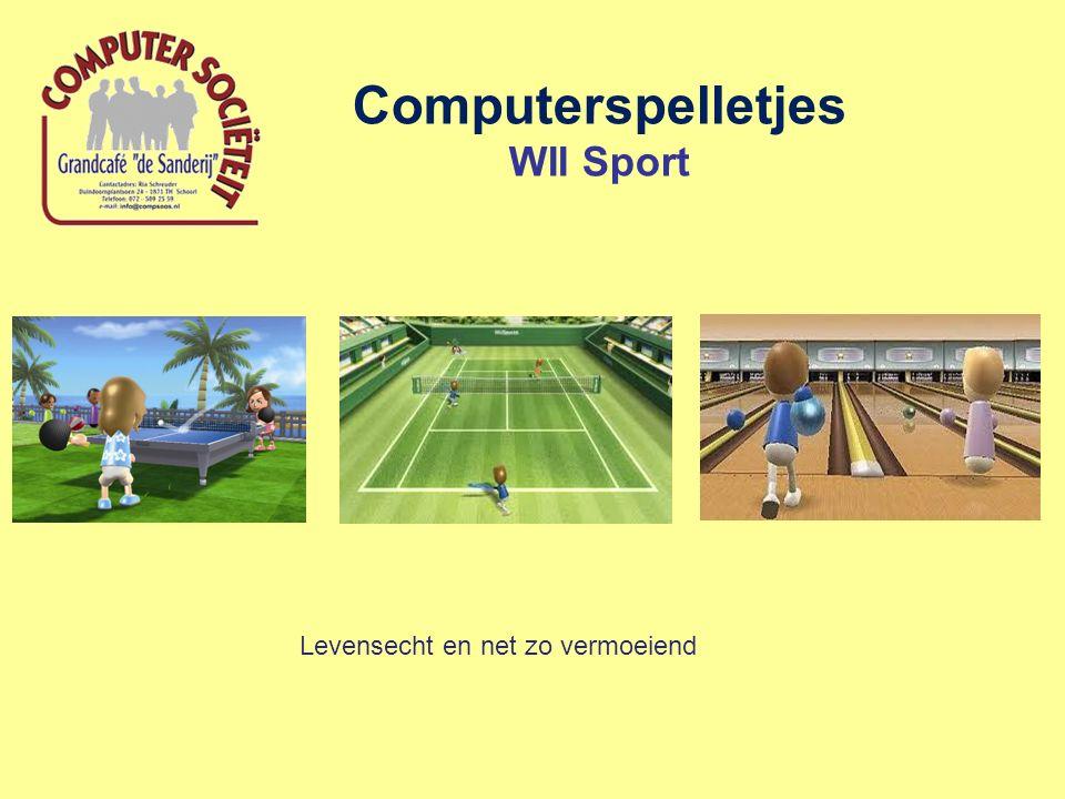 Computerspelletjes WII Sport Levensecht en net zo vermoeiend