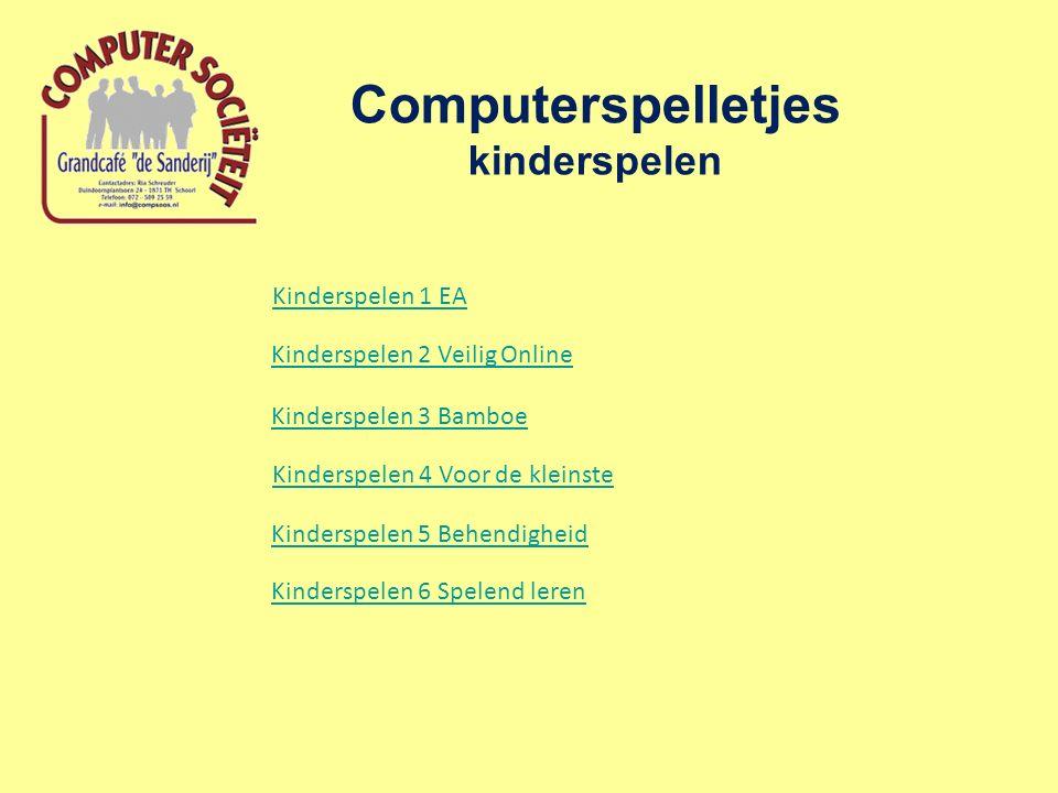 Computerspelletjes kinderspelen Kinderspelen 3 Bamboe Kinderspelen 5 Behendigheid Kinderspelen 1 EA Kinderspelen 2 Veilig Online Kinderspelen 4 Voor de kleinste Kinderspelen 6 Spelend leren