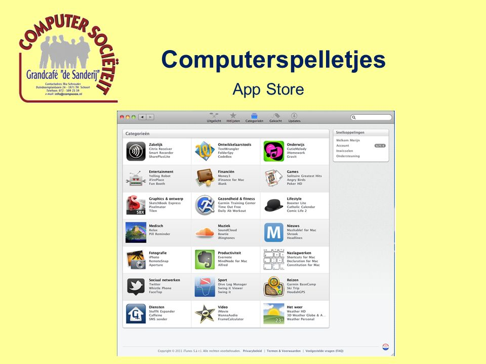 Computerspelletjes App Store
