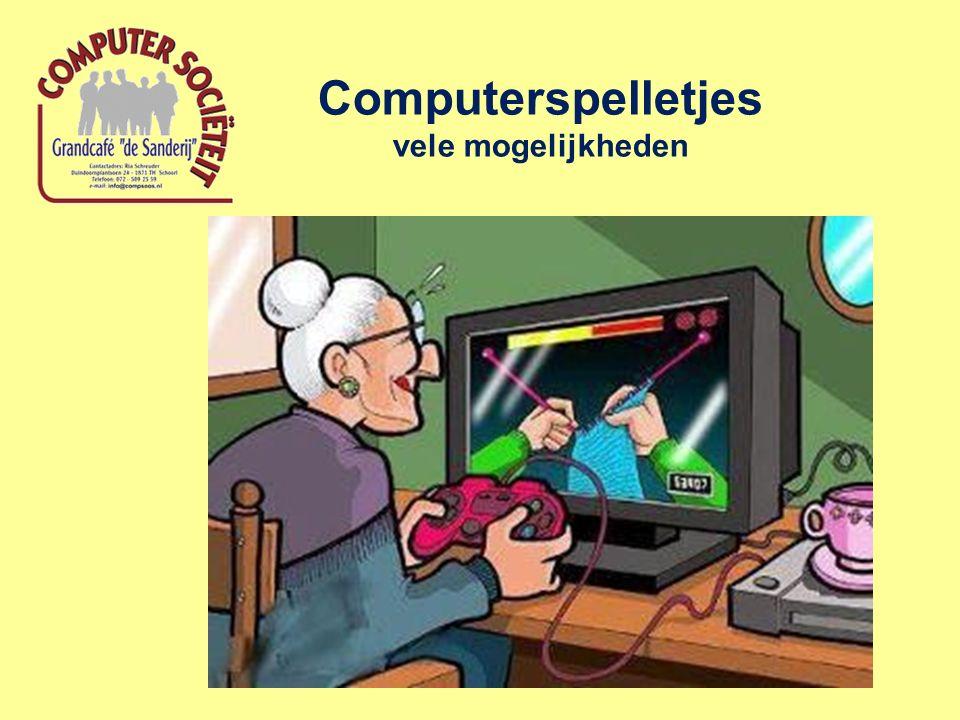 Computerspelletjes vele mogelijkheden