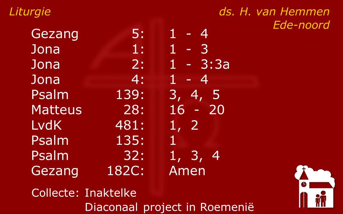 Diensten 9:30voorganger: ds.H. van Hemmen 16:30 voorganger: ds.