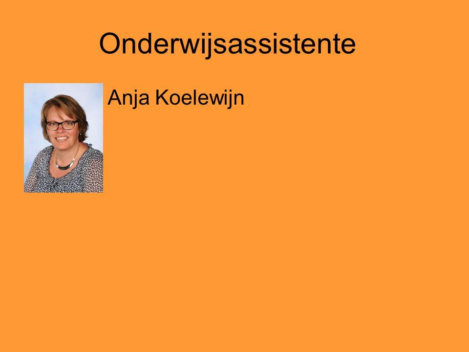 Onderwijsassistente Anja Koelewijn