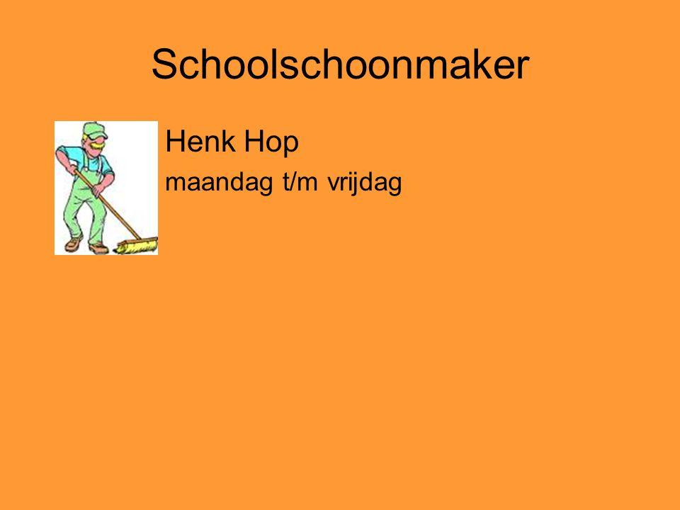 Schoolschoonmaker Henk Hop maandag t/m vrijdag