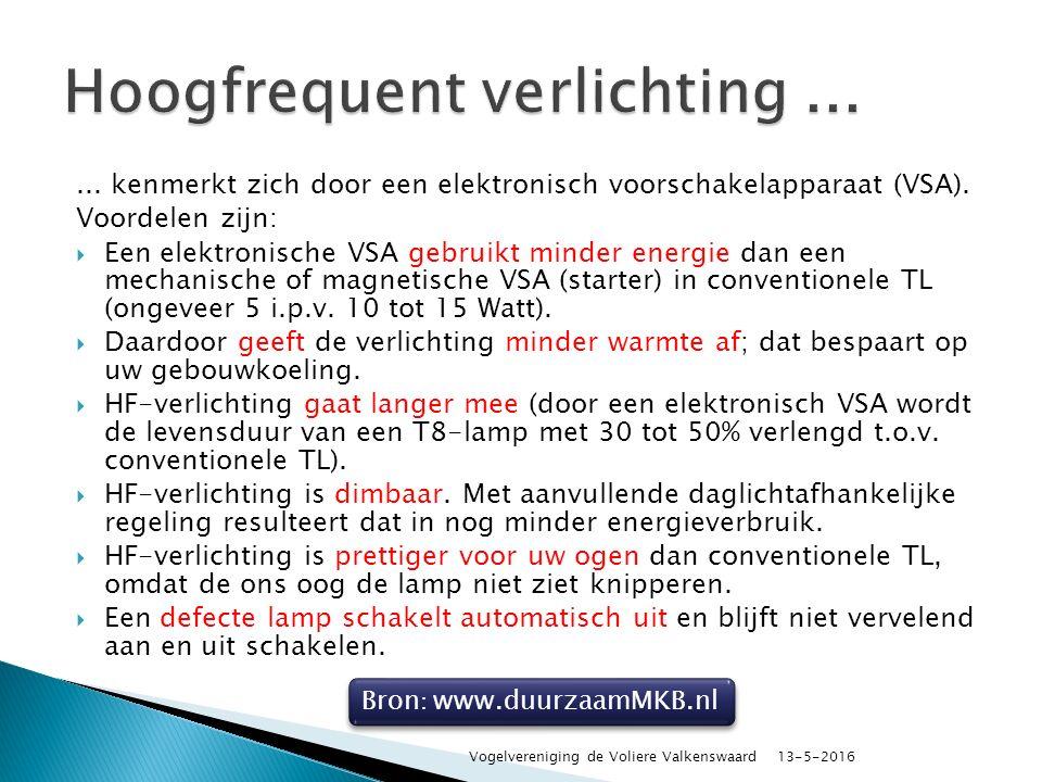 ... kenmerkt zich door een elektronisch voorschakelapparaat (VSA).