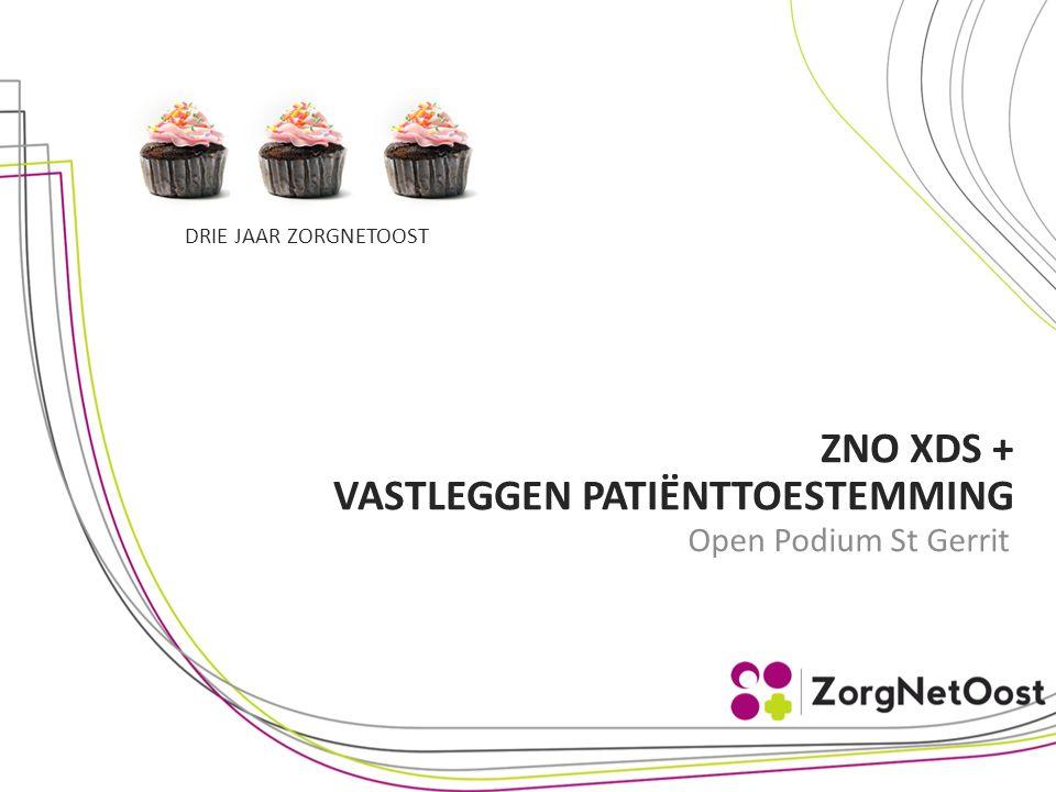 DRIE JAAR ZORGNETOOST Open Podium St Gerrit ZNO XDS + VASTLEGGEN PATIËNTTOESTEMMING