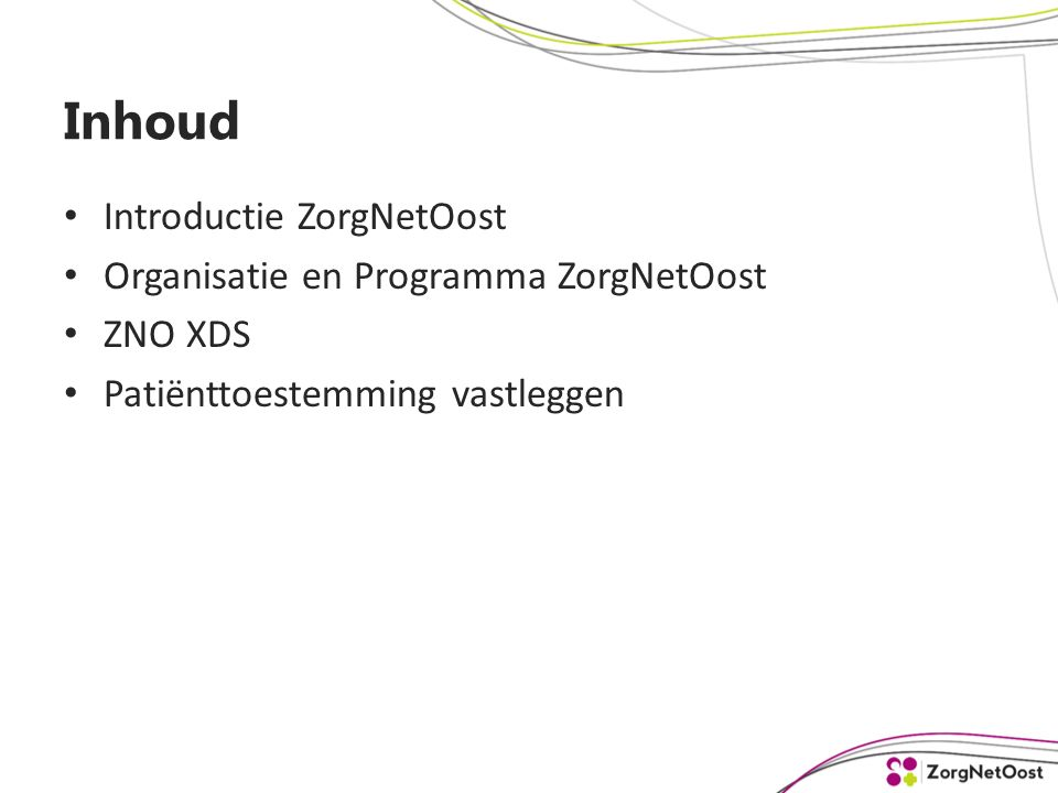 ZNO REFERENTIEARCHITECTUUR