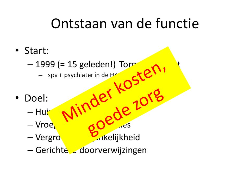 De POH-GGZ bron: www.poh-ggz.nlwww.poh-ggz.nl
