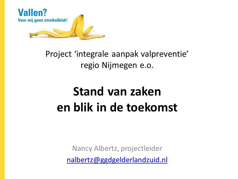 Project 'integrale aanpak valpreventie' regio Nijmegen e.o.