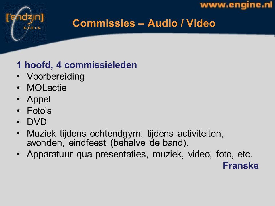 Commissies – PaMa's 8 teams, 16 pama's (mits > 80 feuten), Open dagen Feuten bellen PaMa zijn Voorbereidingen: Bierschild, versiering, etc.