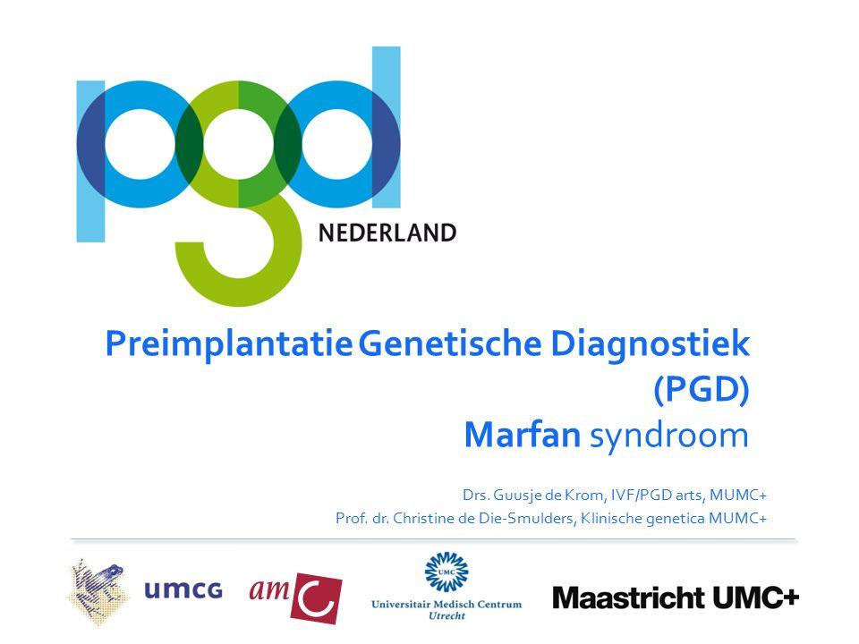Preimplantatie Genetische Diagnostiek (PGD) Marfan syndroom Drs.