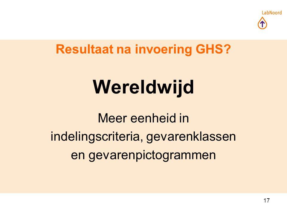 17 Resultaat na invoering GHS.