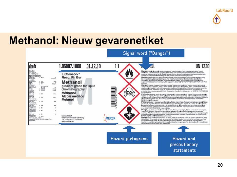 20 Methanol: Nieuw gevarenetiket