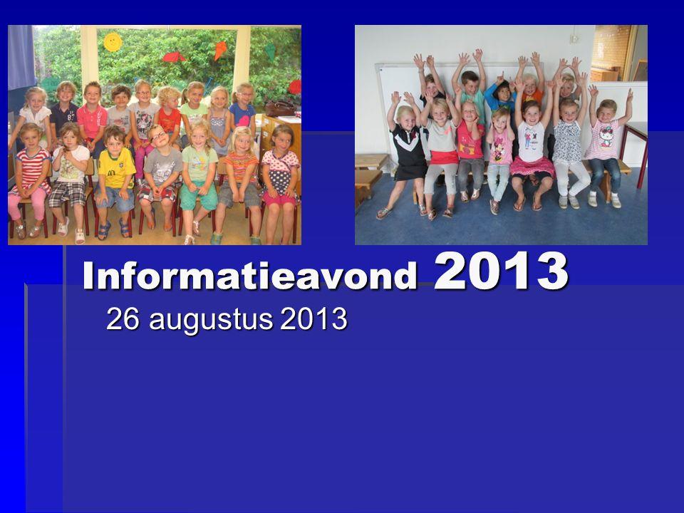 Informatieavond 2013 26 augustus 2013 26 augustus 2013