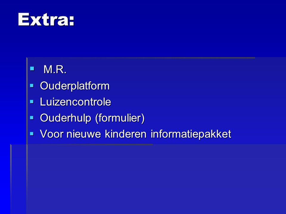 Extra:  M.R.