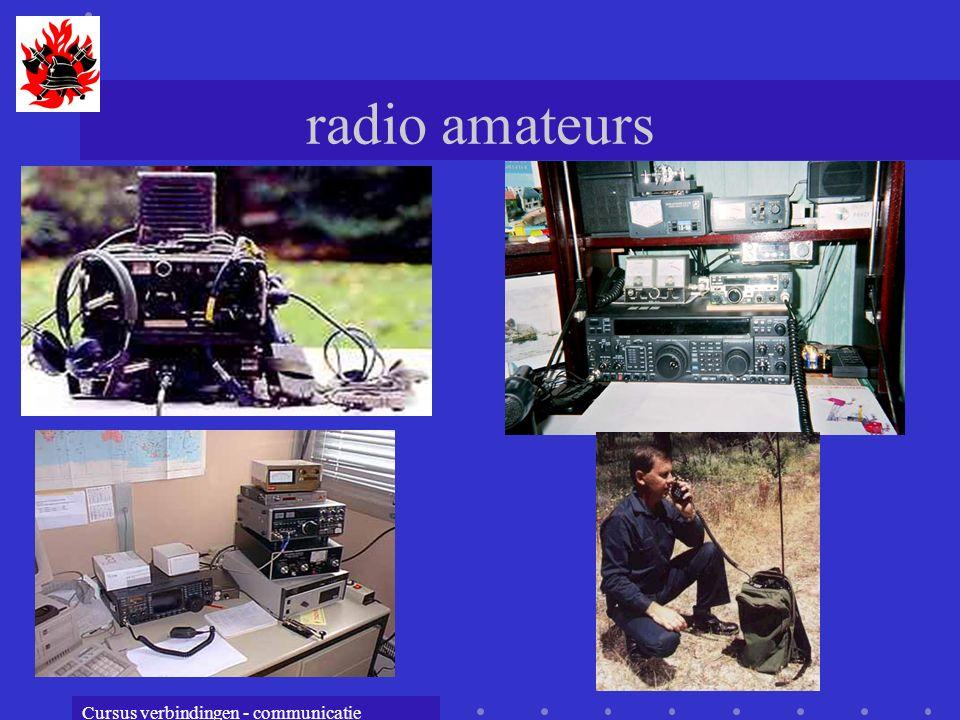 Cursus verbindingen - communicatie radio amateurs